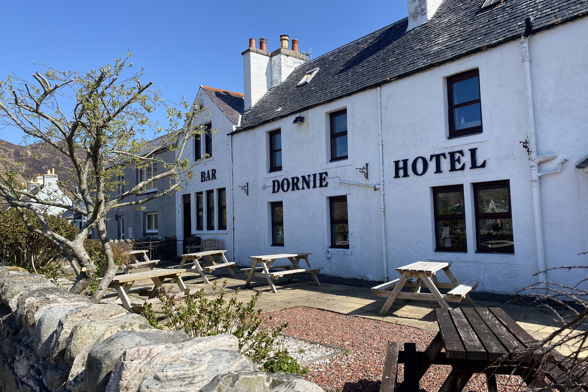 Outside The Dornie | Family, double, twin or sharing rooms at The Dornie