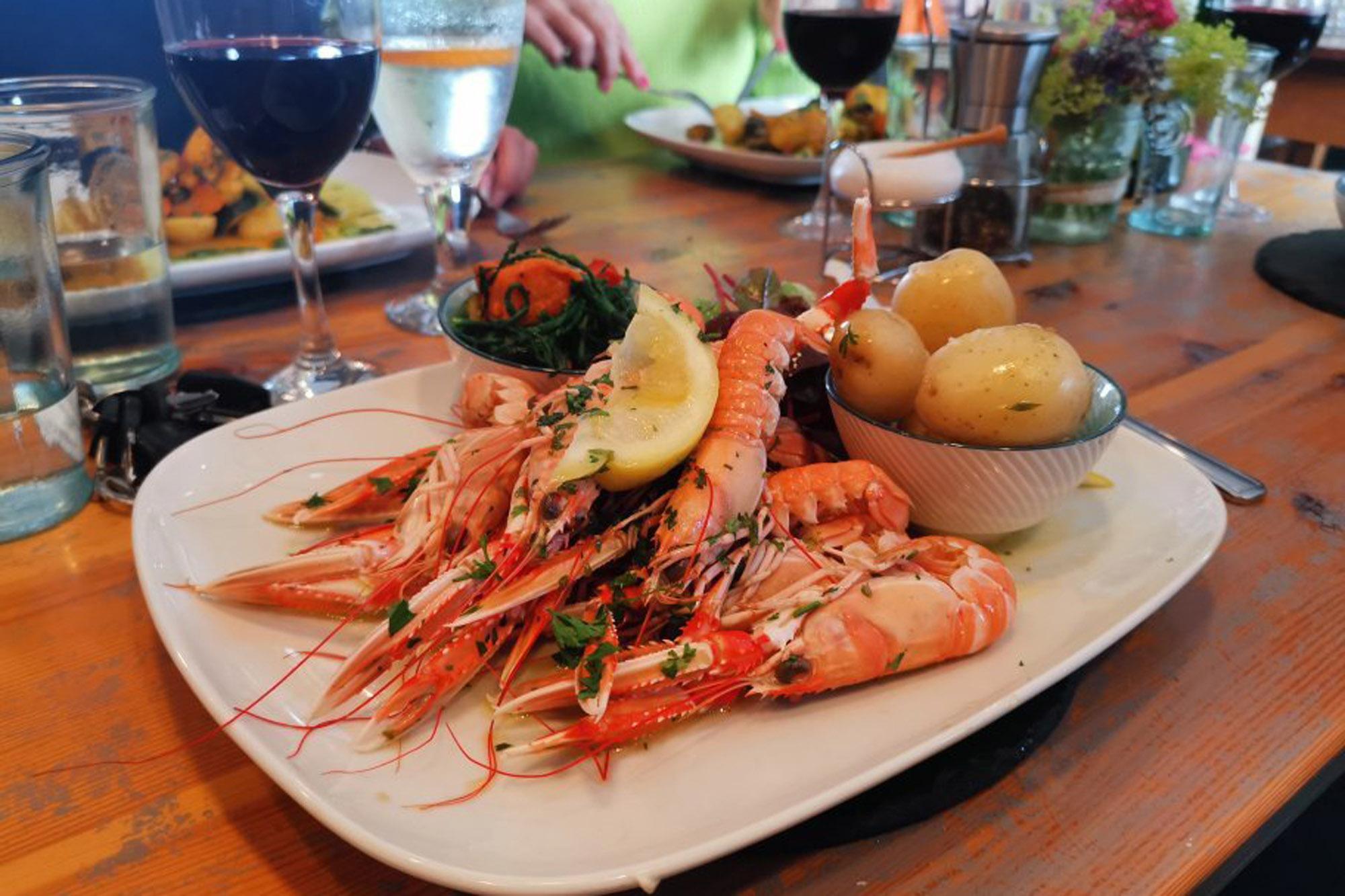 Shrimp at The Dornie | Seafood restaurant near Skye