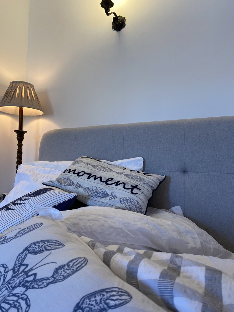 Sea inspired bedding | Hotel in the Highlands