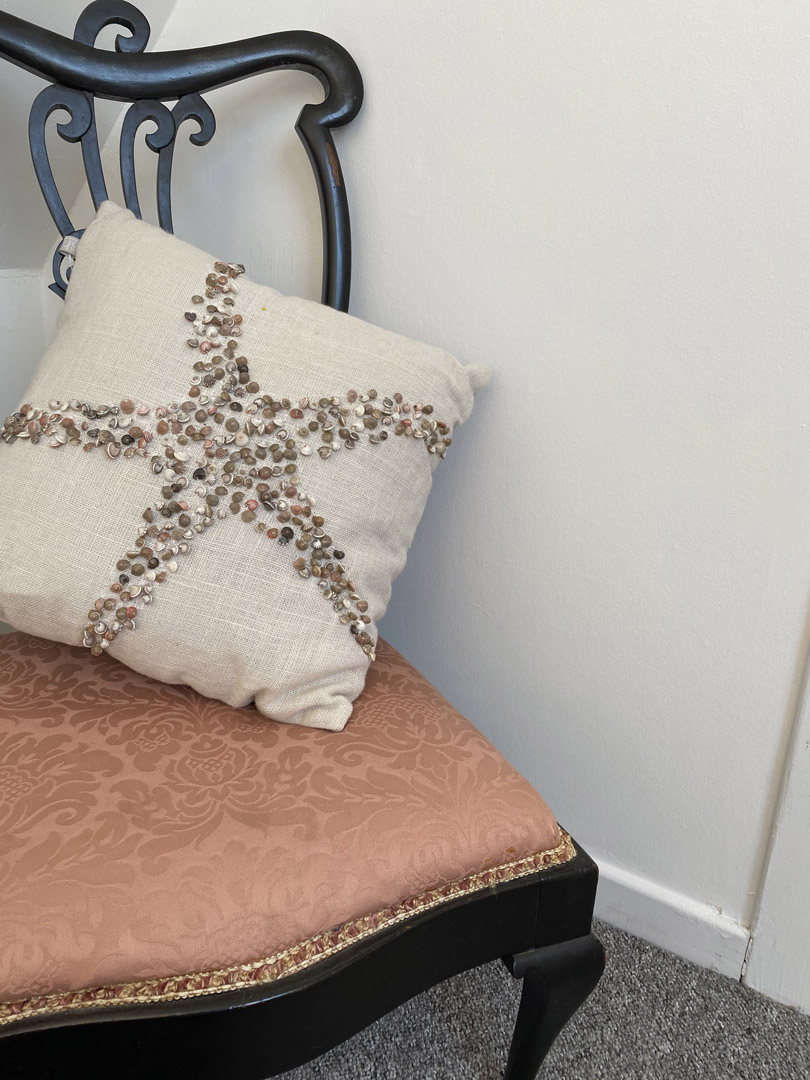 Star fish decorative pillow | Hotel in the Highlands