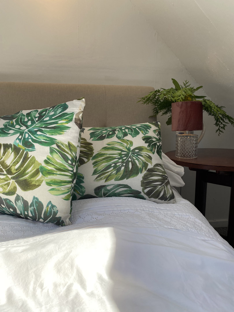 Leaf pattern pillows | Hotel in the Highlands