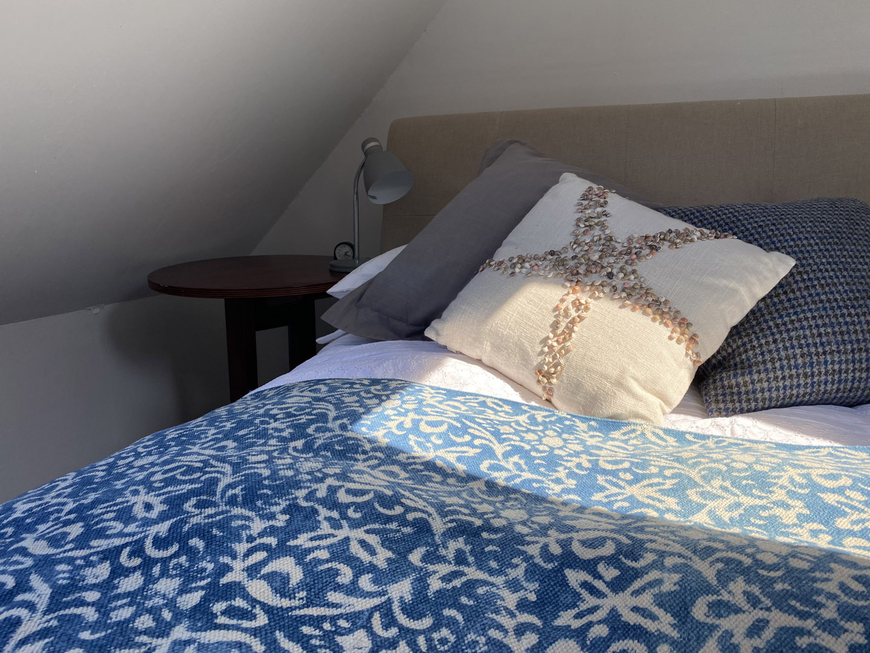 Blue bedsheets | Hotel in the Highlands