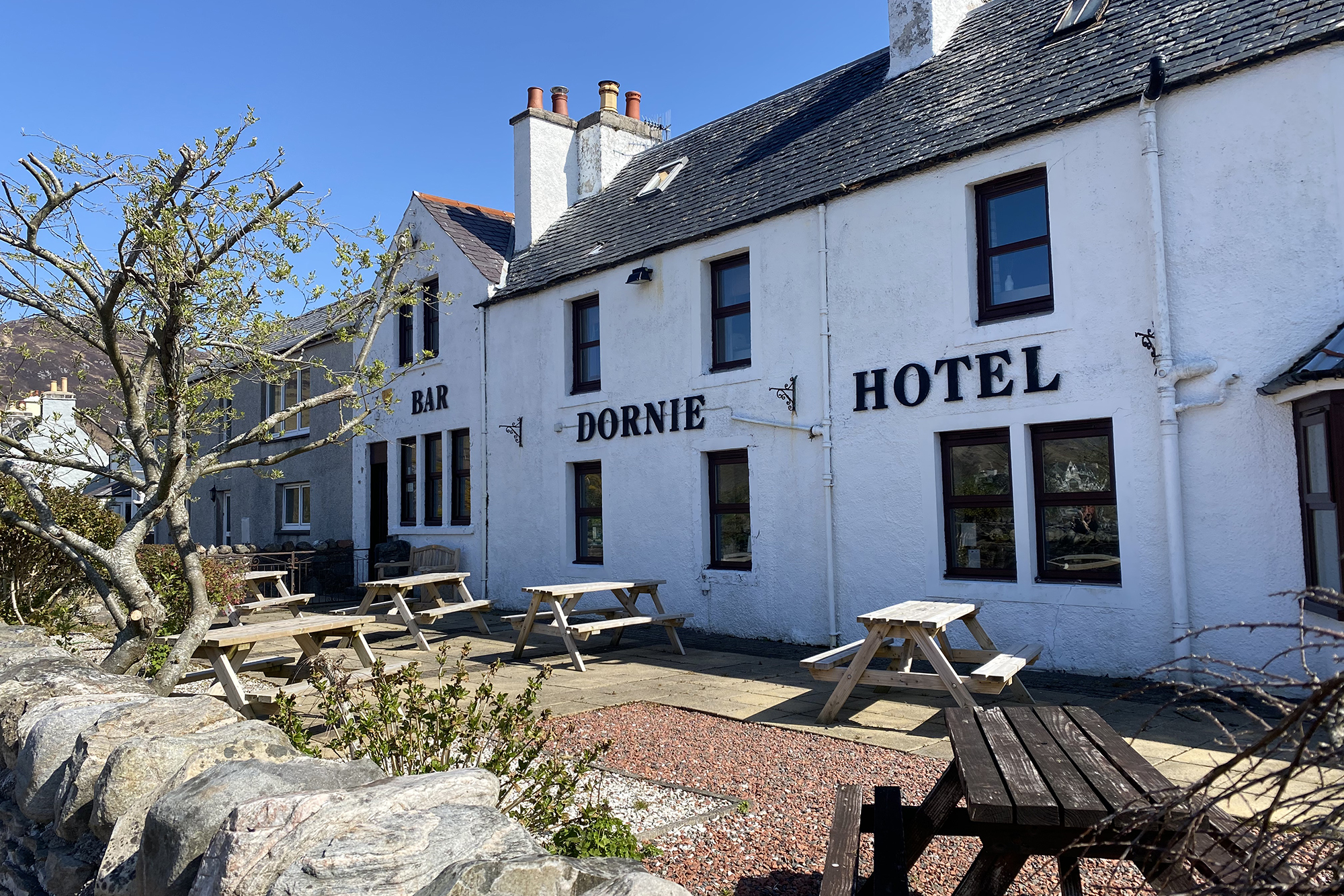 Outside The Dornie hotel | Places to stay in the Highlands
